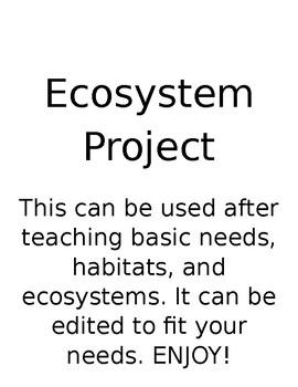Ecosystem/Food Web Project