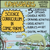 Ecosystems: Consumers Comic with Doodle Notes