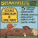 Ecosystems: Decomposers Comic with Doodle Notes