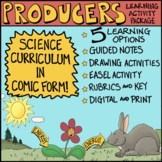 Ecosystems: Producers Comic with Doodle Notes