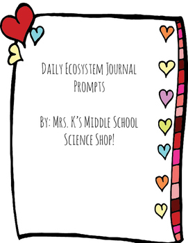 Ecosystem Journal Prompts