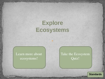 Ecosystem Learning Game and Quiz