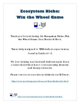 Ecosystem Niche: Win the Wheel Game