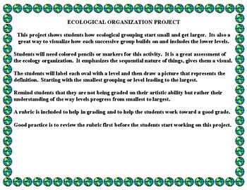 Ecosystem Organization Project