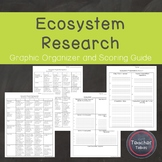 Ecosystem Research {Graphic Organizer and Scoring Guide}