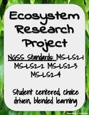 Ecosystem Research Project - NGSS MS-LS2 - Blended Learning - Student Choice