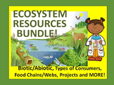 Ecosystem Resources Bundle: lessons, sorts, activities, fo