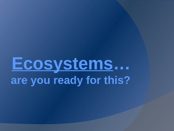 Ecosystem Review Game