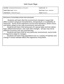 Ecosystem Science Unit