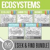 Ecosystems Seek and Find Science Doodle Pages Bundle