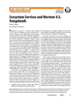 Ecosystem Services and American Rangelands