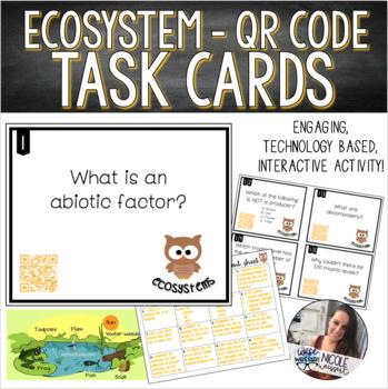 Ecosystem Size/Relationships/Energy Transfer Task Cards
