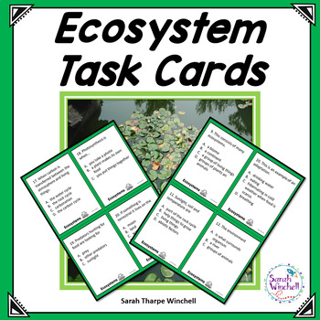Ecosystems Multiple Choice Task Cards