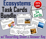 Ecosystems Task Cards Bundle: Habitats and Biomes Activity
