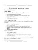 Ecosystem & Taxonomy Project