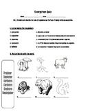 Ecosystem Test/Quiz  S4L1