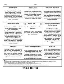 Ecosystem Think Tac Toe and Tasks