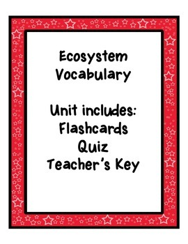 Ecosystem Vocabulary