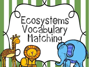 Ecosystem Vocabulary {Flash Cards, Memory or Matching Cards}