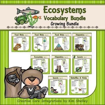 Ecosystem Vocabulary Growing Bundle