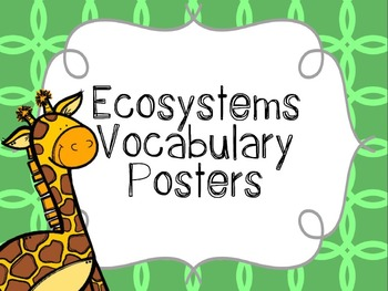 Ecosystem Vocabulary Posters