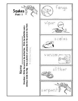 Ecosystem Vocabulary - Snake Part 1