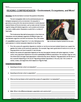 Revered image with free printable ecosystem worksheets