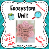 Ecosystem and Food Web Complete Unit NGSS 5-LS2-1 and MS-LS2-3 and MS-LS2-5