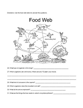 Ecosystem unit review worksheet