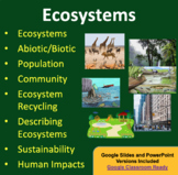 Ecosystems Lesson - Google Slides and Distance Learning Ready