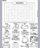 World Biomes and Habitats Activity Word Search (Ecosystems Worksheet)