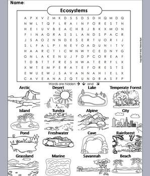 Ecosystems: Biomes and Habitats Word Search
