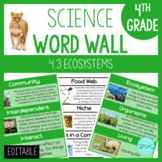 Ecosystems 4.3: 4th Grade Science Word Wall