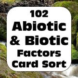 Abiotic & Biotic Factors Activity for Living & Non-Living