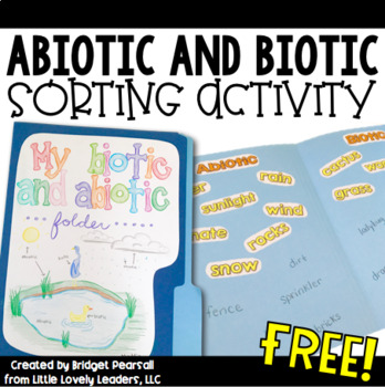 Ecosystems - Abiotic and Biotic Sort Activity