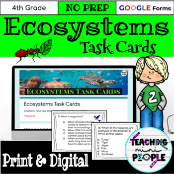 Ecosystems & Adaptations Task Cards