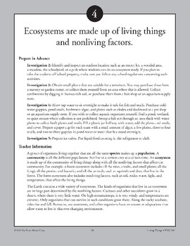 Ecosystems Are Made Up of Living Things and Nonliving Factors