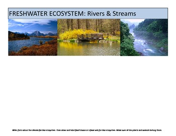 Ecosystems Biomes Booklet and research packet for studying climates, food chains