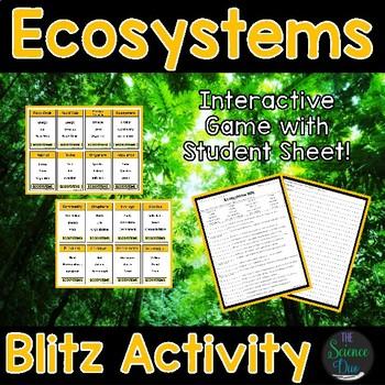 Ecosystems Blitz Activity