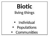 Ecosystems Bulletin Board