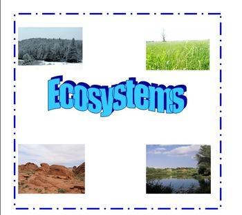 Ecosystems: Categorizing characteristics of ecosystems usi