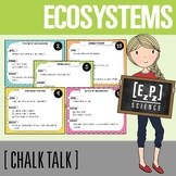 Ecosystems Chalk Talk Task Cards