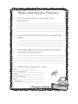 Ecosystems Close Reading Interactive Notebook