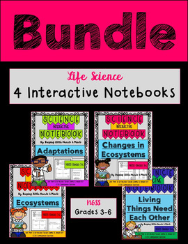 Ecosystems, Dependency, Changes & Adaptations BUNDLE- Science Notebook