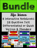 Ecosystems, Dependency, Changes and Adaptations MEGA BUNDLE- Notebook and Test