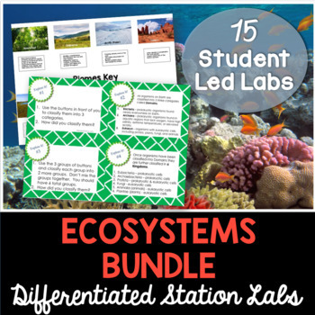 Ecosystems - Differentiated Science Station Labs - 10 Stud
