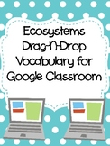 Ecosystems Drag-n-Drop Vocab for Google Classroom