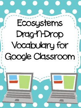Ecosystems Drag-n-Drop Vocab for Google Classroom