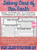 Ecosystems, Earth Day, Endangered Species, Food Chains, and Recycling Articles