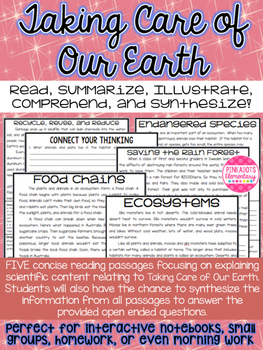 Ecosystems, Earth Day, Endangered Species, Food Chains, an